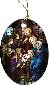 catholic store online nativity stained glass ornament catholic to the max online