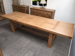 Extended Dining Table Vienna Solid Oak Extending Dining Table Oak Furniture Oakita