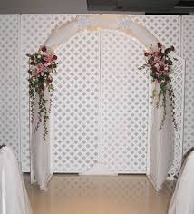 wedding arches inside indoor wedding altars wedding arch ideas in front of the sheer