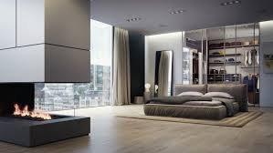bedroom white low profile bed white curtain laminate flooring