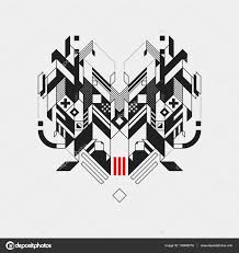 Futuristic Design Abstract Geometric Design Element On White Background Futuristic