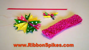 how to make headband bows how to make hair bows headband with ribbon spikes from www