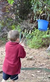 backyard pulley an engineering challenge for kids kids steam lab
