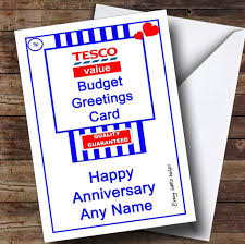 funny joke tesco value spoof personalised anniversary card the