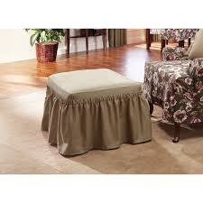 Slipcover Ottoman Sure Fit Cotton Classic Ottoman Slipcover Free Shipping On