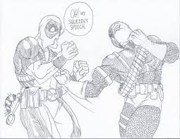 deathstroke vs deadpool coloring pages for kids 5612 deathstroke
