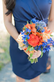 wedding flowers queanbeyan blue and orange bridesmaid bouquet bouquet photography