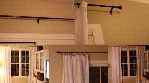 Curtain Rods To Hang From Ceiling Coffee Tables Bed Curtains From Ceiling No Drill Curtain Rods
