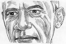 presidential portrait illustration ink rhythm