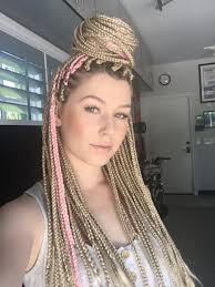 try blonde braids on for size natural hair style braids