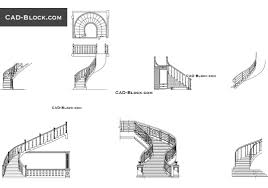 Ibc Stair Design by Stairs Cad Blocks Free Dwg Download