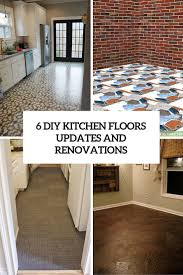 Renovations by 6 Diy Kitchen Floors Updates And Renovations To Try Shelterness