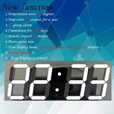 remote control large led digital wall clock modern design home