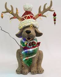 Outdoor Reindeer Christmas Decorations by Frontgate Fiber Optic Reindog Outdoor Christmas Holiday Decoration
