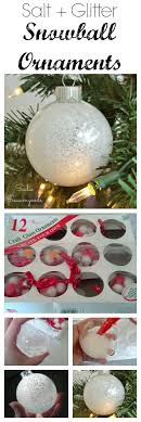 easy no mess salt glitter frosty snowball ornaments