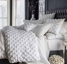 com white cotton diamond pucd duvet cover 110 w x 102 l king size home kitchen