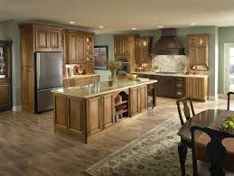 kitchen with light wood cabinets monsterlune
