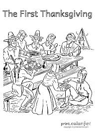 when was the first thanksgiving feast first thanksgiving feast coloring pages november pinterest d