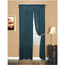 essential home luxury crushed faux silk window panel indigo