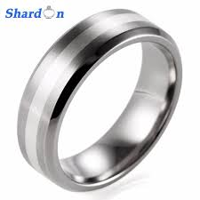 titanium mens rings aliexpress buy shardon 7mm mens titanium ring with stain