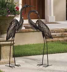 amazon com regal art u0026gift preening bronze heron standing art