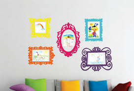 picture frame stickers for wall home design ideas sticker wall picture frames decals for kids walls part 46