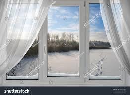 beautiful view winter window stock photo 78066181 shutterstock