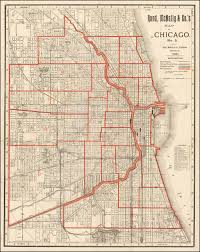 Chicago Ward Map Rand Mcnally U0026 Co U0027s Map Of Chicago No 3 1890 New Chicago