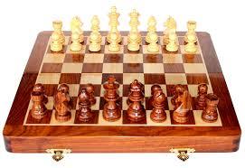 Amazon Chess Set Amazon Com Stonkraft Wooden Chess Game Board Set With Magnetic