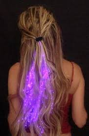 fiber optic light strands starlight strands illuminating fiber optic hair extensions rave