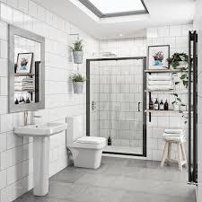Black Shower Door Mode Ensuite Suite With 6mm Black Shower Door 1200mm