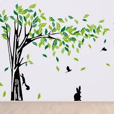 large green tree wall sticker vinyl living room wall stickers home