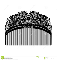 vintage comb vector ornate comb stock vector illustration of curve 36236162