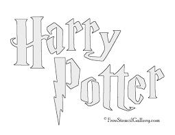 harry potter title stencil free stencil gallery