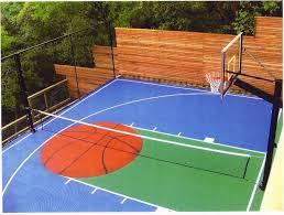 outdoor basketball half court size outdoor designs
