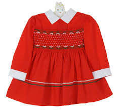 rick rack trim polly flinders smocked dress with green and white rick rack