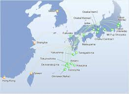 Flight Routes Map by Flight Routes U003c 就航路線 U003e Kagoshima Airport