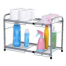 easy home expandable under sink shelf top rated under kitchen sink organizer shelf under sink storage