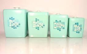 retro kitchen canisters vintage midcentury canister set flour sugar coffee tea plastic