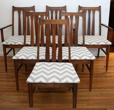 mid century modern dining table set mid century modern dining chair set with vertical slat backs and