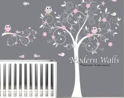 sticker chambre bébé fille stickers arbre blanc chambre bebe unique décoration pour la chambre