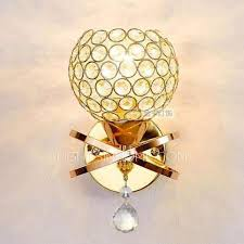 ball hardware crystal gold wall lights and e27 lamp holder