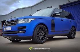 wrapped range rover range rover vvivid satin blue chrome personal vehicle wrap project