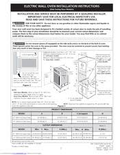 how to install a wall oven in a base cabinet frigidaire gleb27z7hs electric wall oven manuals
