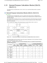 calcu block parameter computer programming input output