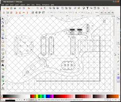 from pdf to mdf making a guitar body routing template part 1