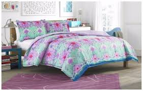 Teen Floral Bedding Twin Size Comforter Set Piece Bedding Kids Teen Bedroom Floral Tie