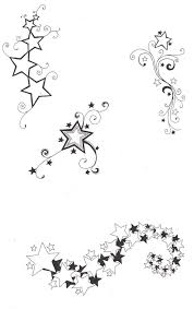 black and white star tattoos designs