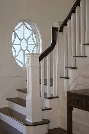 Traditional Staircase Ideas Newel Post Staircase Traditional With Center Hall Staircase Beige