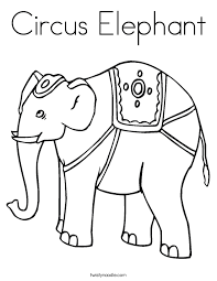 circus elephant coloring twisty noodle